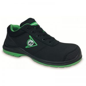 Zapato Dunlop First Range Black Green Low
