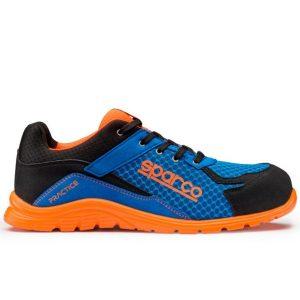 Calzado de seguridad Sparco Practice S1P Azul Naranja
