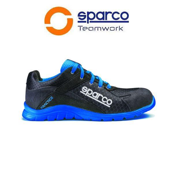 Calzado de seguridad Sparco Practice 07517 AZAZ S1P SRC