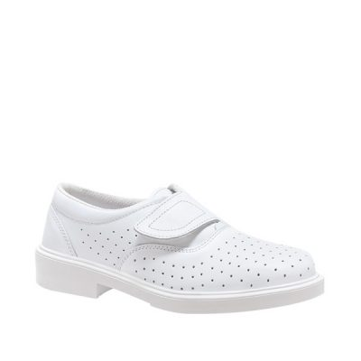 Calzado de seguridad sanitario Panter Londres Velcro® Blanco Calado O1 Unisex