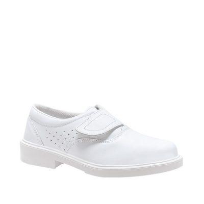 Calzado de seguridad Panter Londres Velcro® Blanco Liso O1 Unisex