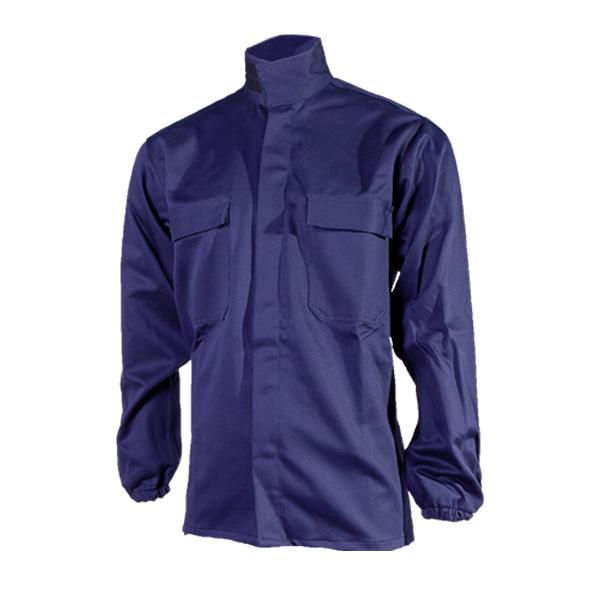 camisa algodon ignifugo marino