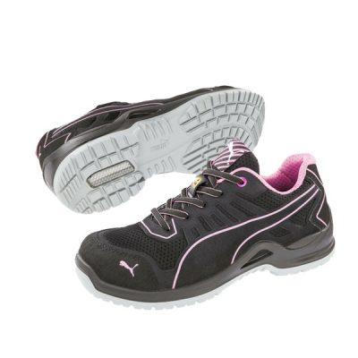 Calzado de seguridad Puma Fuse TC Pink Low S1P ESD SRC Unisex