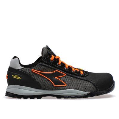 Calzado de seguridad Diadora Glove Net Low PRO S1P SRA HRO ESD Asphalt / Orange Fluo Unisex