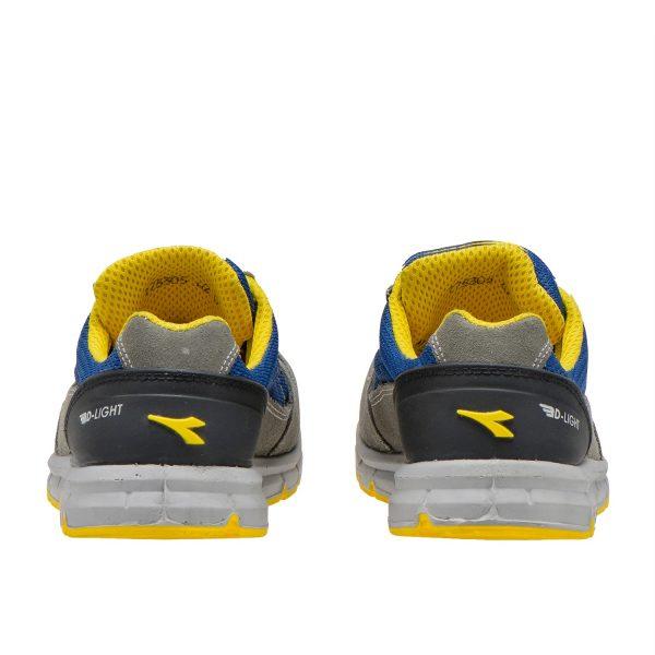 Calzado de seguridad Diadora Run Text Low Gris Castillo/Azul Insignia S1P SRC ESD Unisex