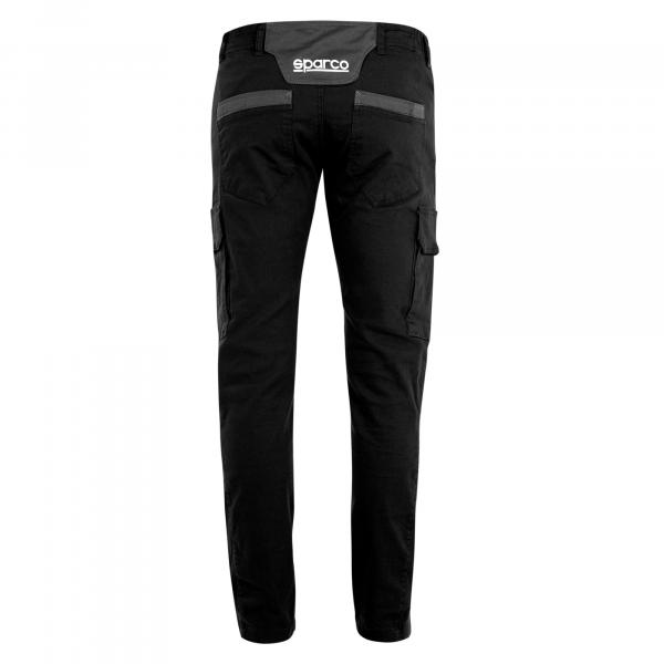 Pantalon De Trabajo Multibolsillos Sparco Boston Negro Calzado De Seguridad