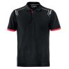 Polo Sparco Portland negro con inserciones en colores a contraste.