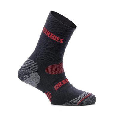 Calcetín corto Paredes Negro / Rojo