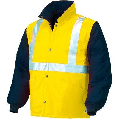 Chaleco acolchado de alta visibilidad Starter amarillo