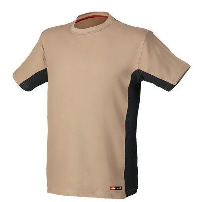 Camiseta de manga corta Starter Stretch beige-negro