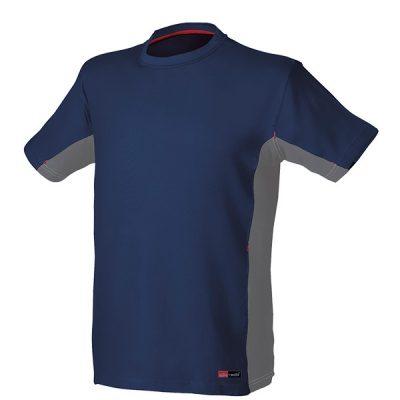 Camiseta de manga corta Starter Stretch azul-gris