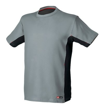 Camiseta de manga corta Starter Stretch gris-negro