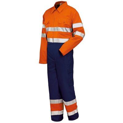 Buzo alta visibilidad Starter naranja-azul