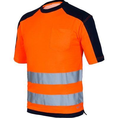 Camiseta AV bicolor Starter naranja-azul