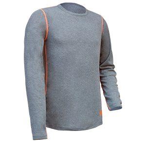 Camiseta térmica Starter Issa gris-naranja