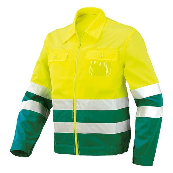 Cazadora AV bicolor Starter amarillo-verde