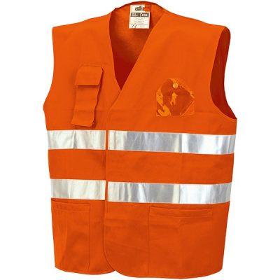 Chaleco con bolsillos Starter AV naranja