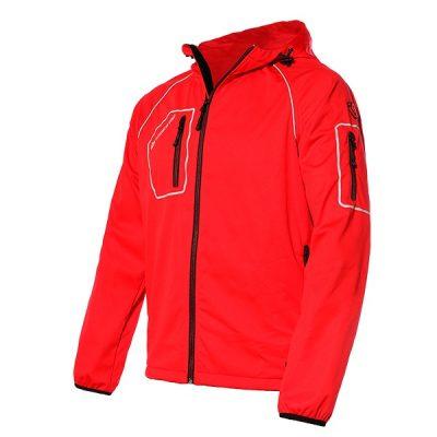 Chaqueta impermeable con capucha Starter Thiny rojo