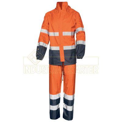 Conjunto impermeable AV bicolor Starter  Glaire  naranja
