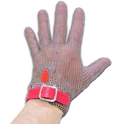 Guante de malla Starter Chainex rojo