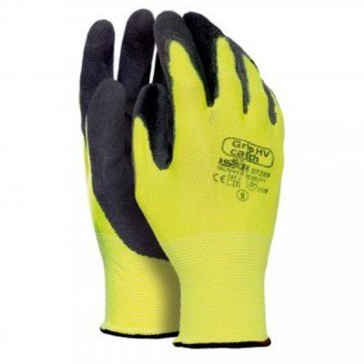 Guante de Nylon Grip HV Catch amarillo-negro AV