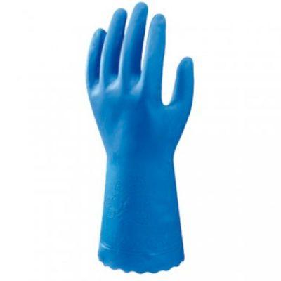 Guante de pvc sin soporte Starter Showa azul