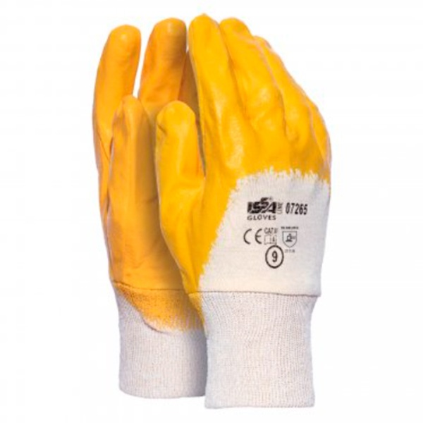 Guante en malla impregnado en nitrilo Starter amarillo