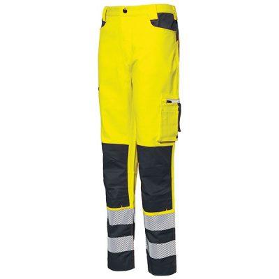 Pantalon AV Starter Stretch amarillo fluor-gris