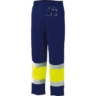 Pantalon alta visibilidad bicolor Starter amarillo-azul