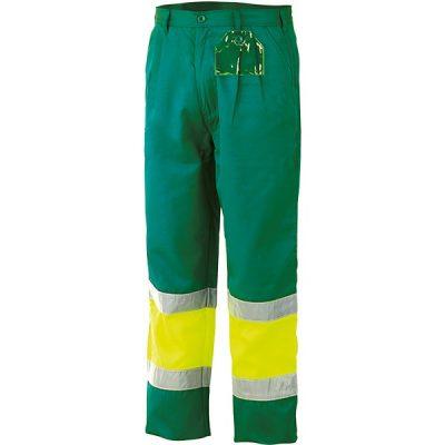 Pantalon alta visibilidad con forro bicolor Starter amarillo-verde