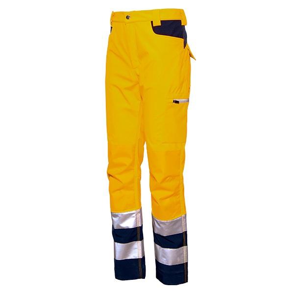 Pantalón de alta visibilidad Starter Gordon  amarillo-azul
