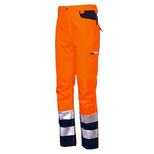 Pantalón de alta visibilidad Starter Gordon  naranja-azul