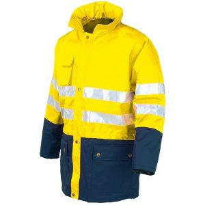 Parka acolchada AV bicolor Starter amarillo-azul