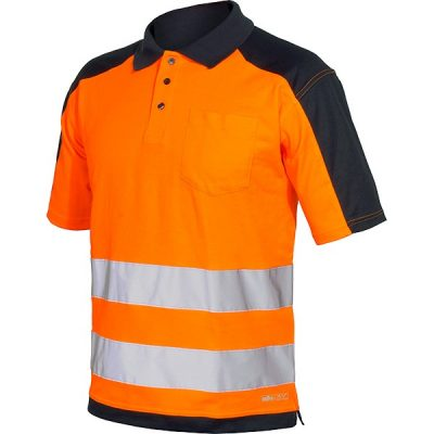 Polo AV bicolor Starter naranja