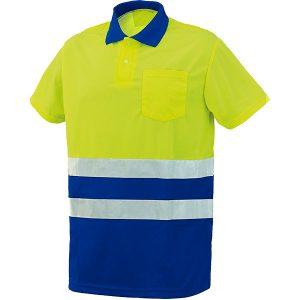 Polo AV bicolor manga corta Starter amarillo-azul