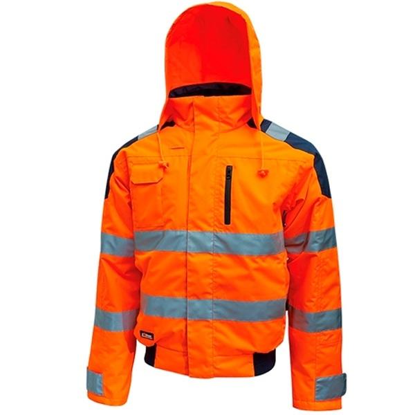 Chaqueta alta visibilidad U-Power Best Orange Fluo