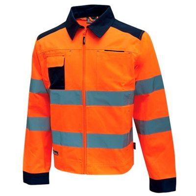 Chaqueta alta visibilidad U-Power Glare Orange Fluo