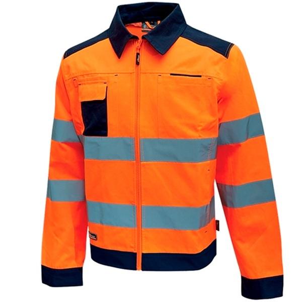 Chaqueta alta visibilidad U-Power Gleam Orange Fluo