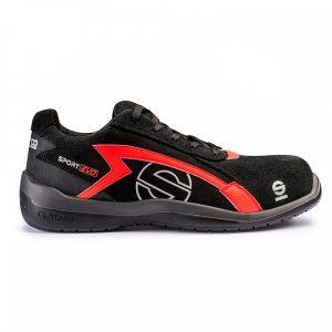 Calzado Sparco sport Evo S1P negro-rojo