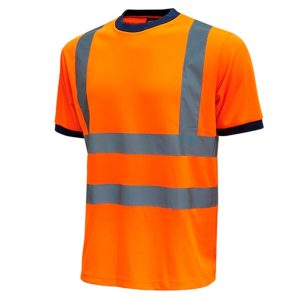 Camiseta de alta visibilidad U-Power Mist Orange Fluo