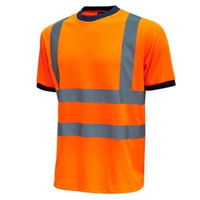 Camiseta de alta visibilidad U-Power Mist Orange Fluo