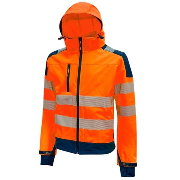 Chaqueta de alta visibilidad impermeable  U-Power Miky Orange  Fluo