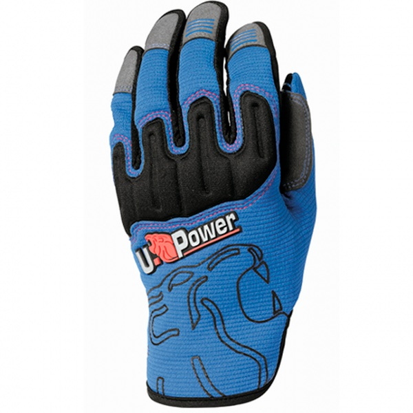 Guantes U-Power Boost Blue Neon Pack 5 Unidades