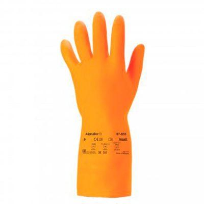 Guante de látex ALPHATEC naranja