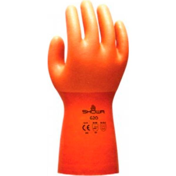 Guante revestido por completo de PVC Starter naranja