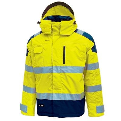 Parka impermeable U-Power Defender Yellow Fluo