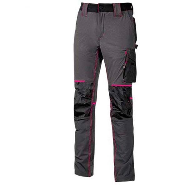Pantalón de trabajo   U-Power Atom Grey Fucsia