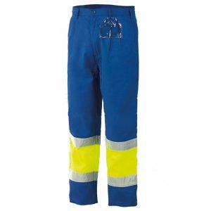 Pantalon alta visibilidad bicolor Starter amarillo-azulina