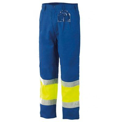 Pantalon alta visibilidad bicolor Starter azulina-amarillo