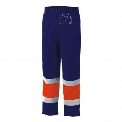 Pantalon alta visibilidad bicolor Starter azul-naranja